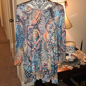 NEW long sleeve abstract blouse for women